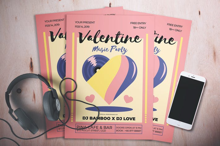 Thumbnail for Valentine Music Party Flyer