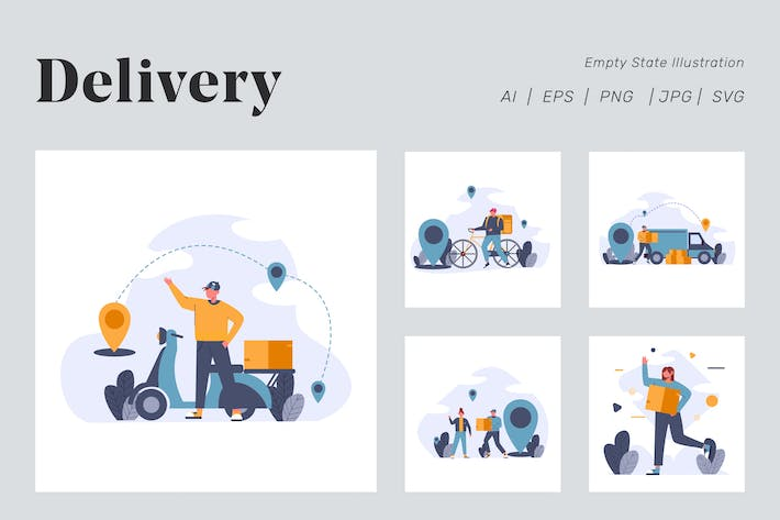 Thumbnail for Online Delivery Illustration for Empty state