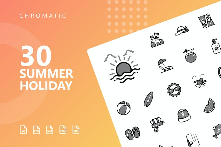 Summer Holiday Chromatic Icons