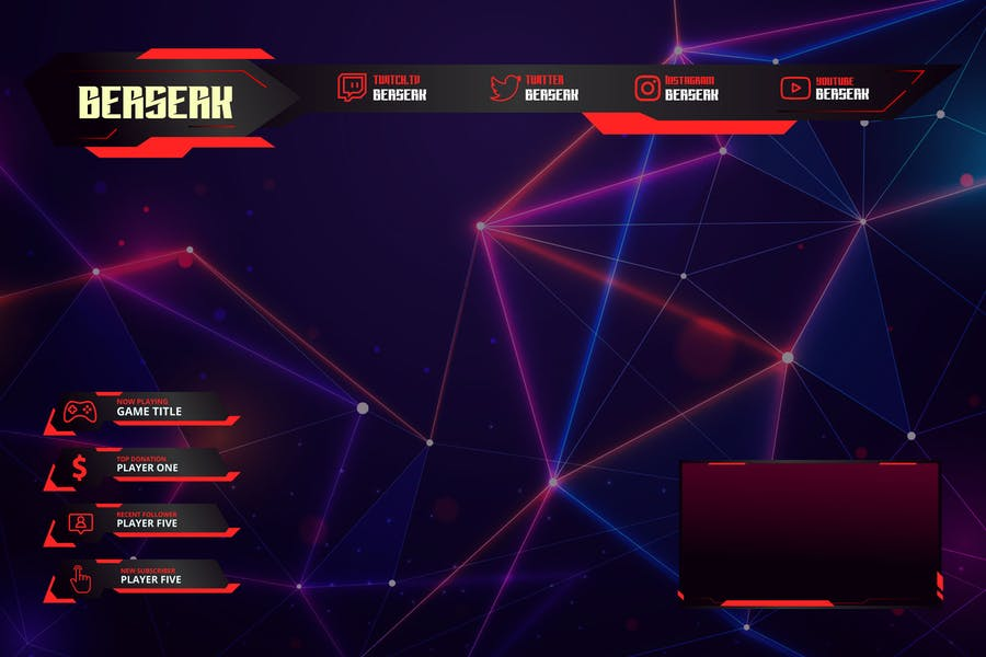 Berserk - Twitch Overlay Template