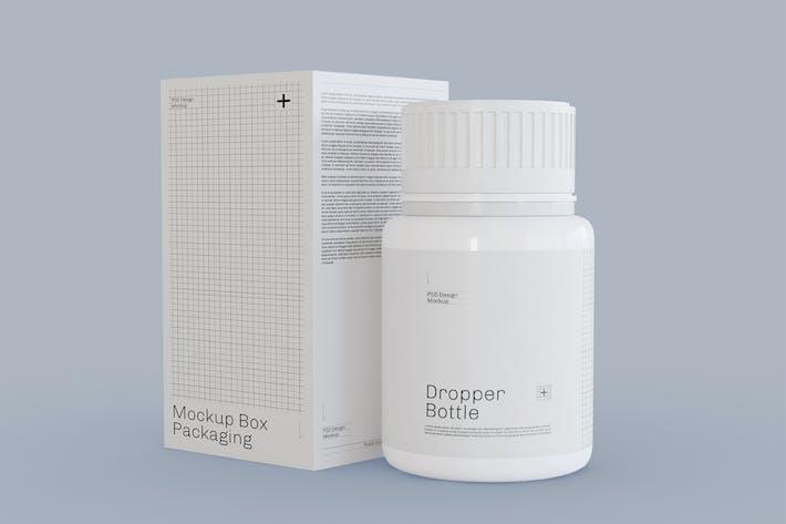 Thumbnail for Pill Bottle Packaging Mockup