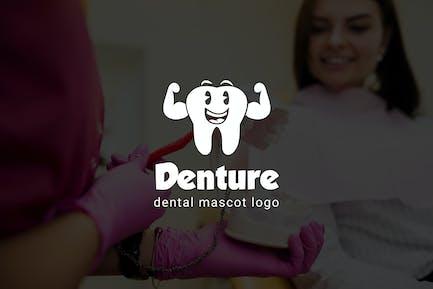 Denture : Dental Mascot Logo