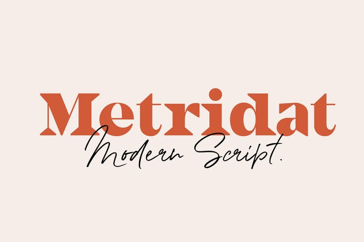 Thumbnail for Metridat Fonts DUO Set