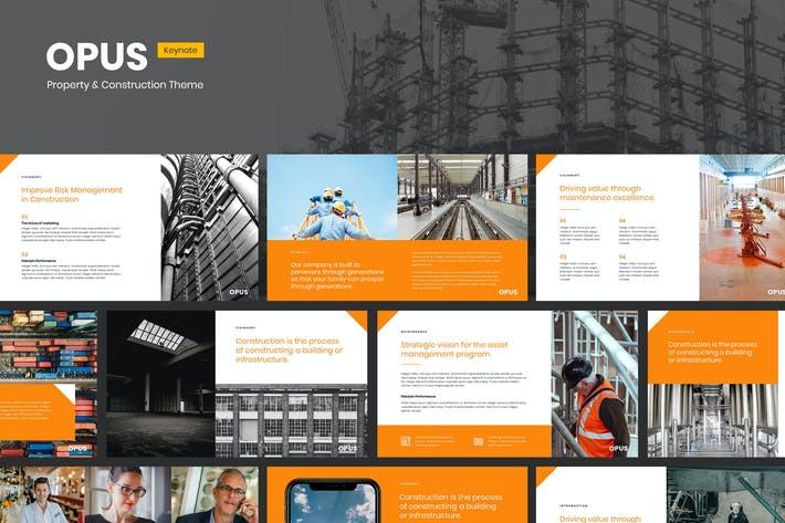 Thumbnail for Opus - Property & Construction Keynote Template