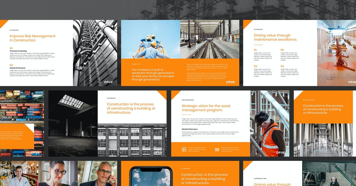 Download Opus - Property & Construction Keynote Template by Slidehack