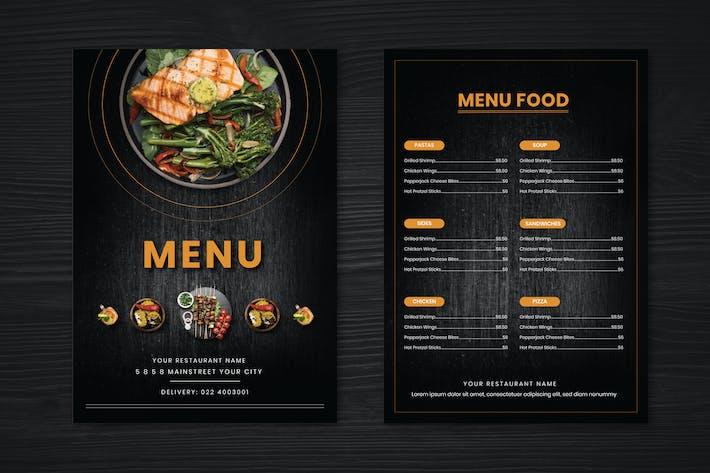 Thumbnail for Restaurant Menu Two Sided Menu List Template