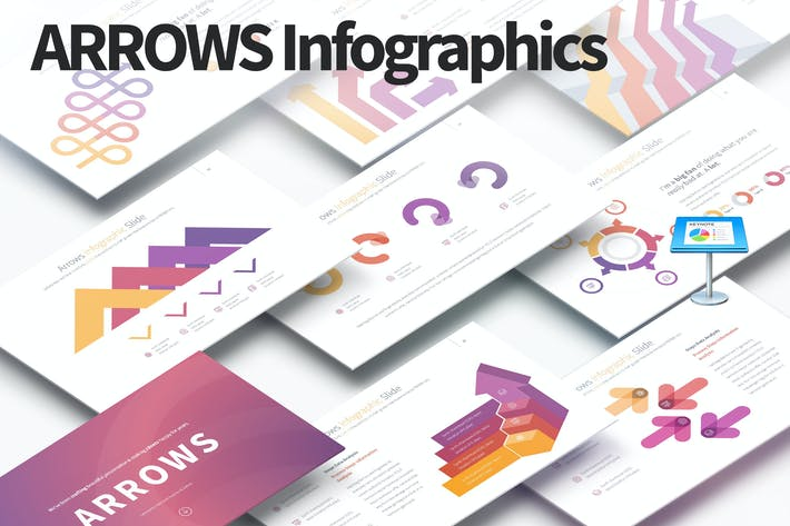 Thumbnail for ARROWS - Keynote Infographics Slides
