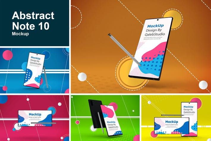 Thumbnail for Abstract Note 10 Mockup