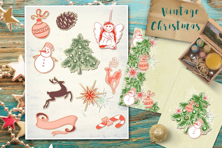 Thumbnail for Vintage Christmas Set