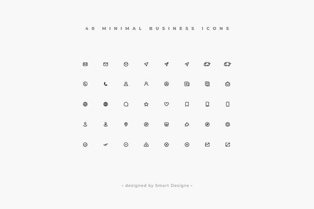 Minimal Business Icons Pack x40