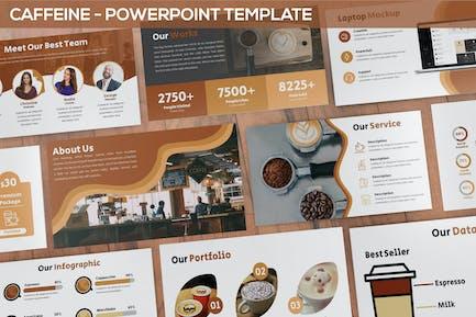 Кофеин - Шаблон Powerpoint для кофешопа