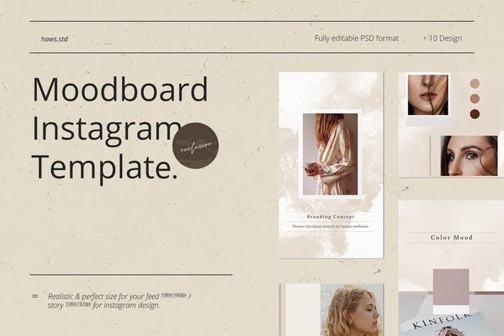 Thumbnail for Moodboard Instagram Template
