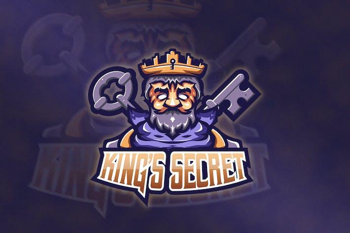 Oldman Mascot & Esport Logo V1 - King's Secret