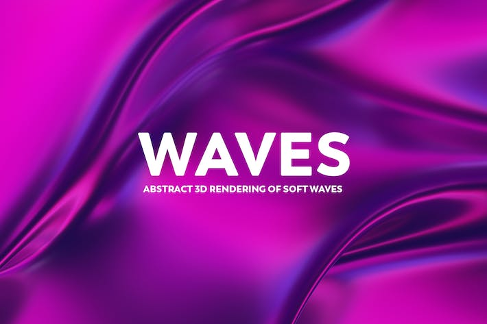 Thumbnail for Abstract 3D Rendering of Waves -  Pink And Purple