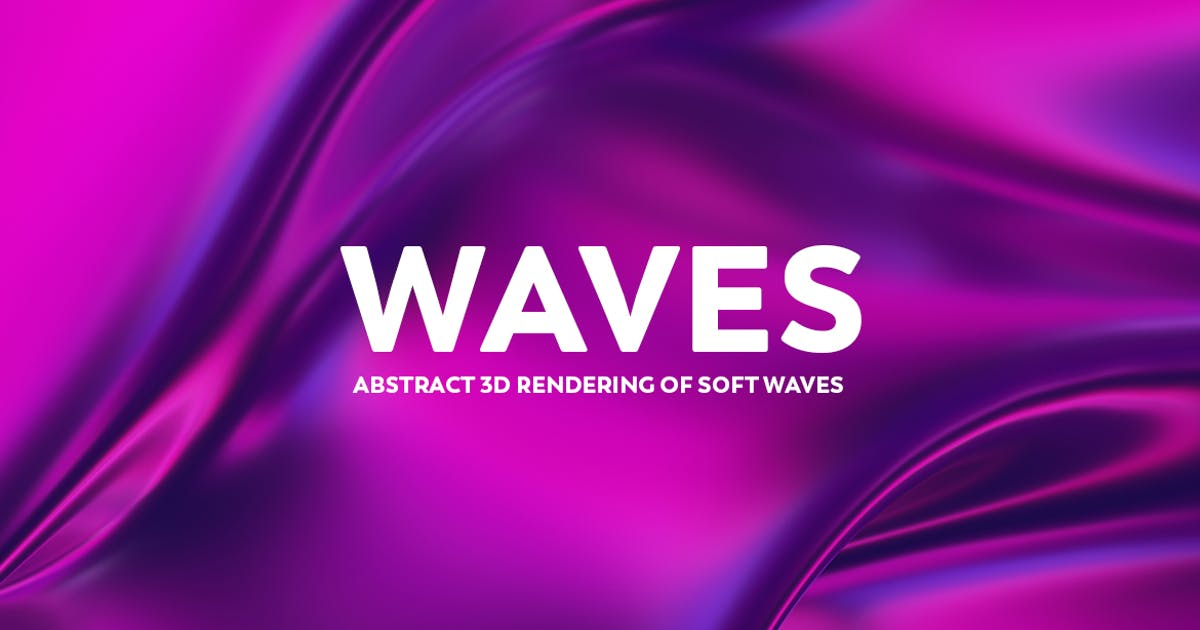 Download Abstract 3D Rendering of Waves -  Pink And Purple by mamounalbibi