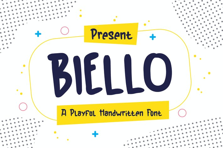 Thumbnail for Biello Typeface - A Playful Handwritten Font