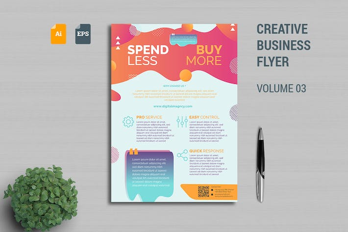 Thumbnail for Creative Business Flyer Template Vol. 03