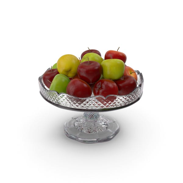 Fancy Crystal Bowl With Apples