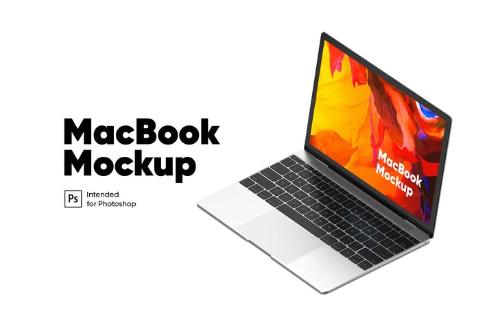 Thumbnail for MacBook Mockup Isometric