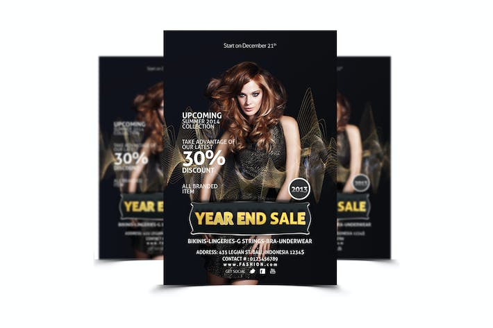 Thumbnail for Fashion - Year End Sale Flyer