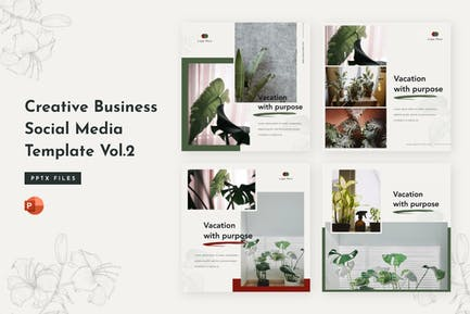 Creative Business Social Media Template Vol. 2