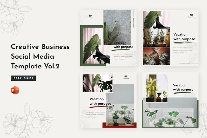 Thumbnail for Творческий бизнес социальные медиа Шаблон Том 2