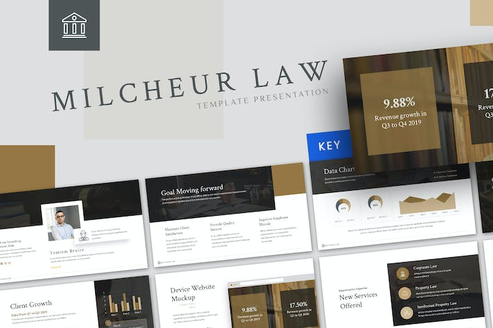 Thumbnail for Milcheur - Law Keynote Template
