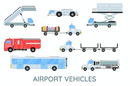 Flughafen-Fahrzeuge
