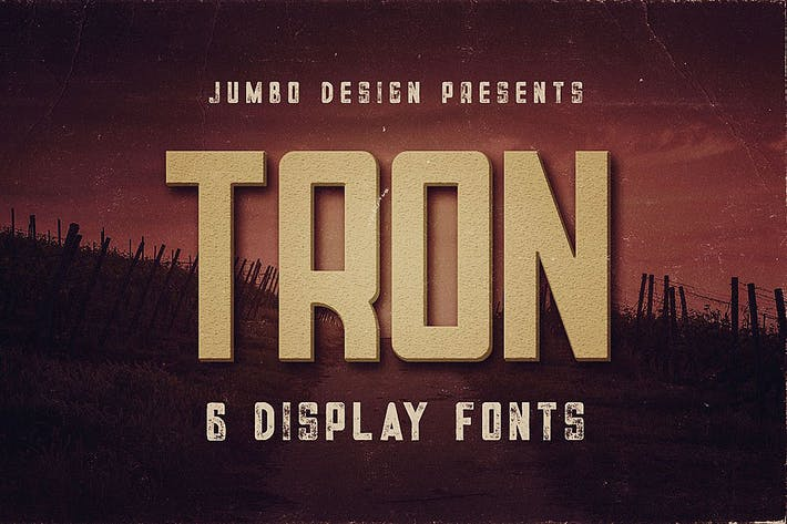 Thumbnail for Tron - Display Font