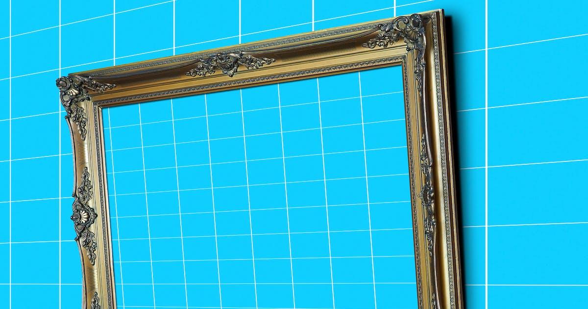 Download Gold_Frame_Perspective_Mockup by pbombaert