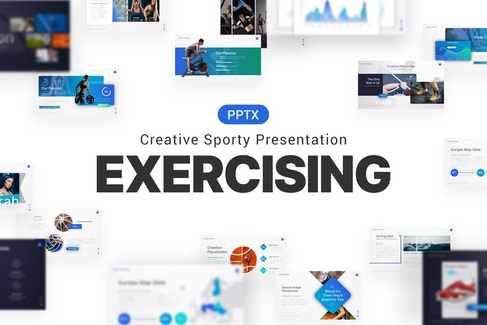 Exercising Yoga Sporty Presentation Template