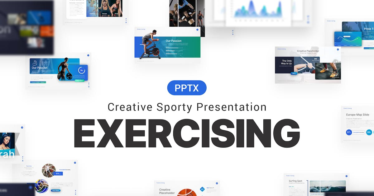 Download Exercising Yoga Sporty Presentation Template by BrandEarth