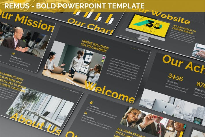 Thumbnail for Remus - Bold Powerpoint Template