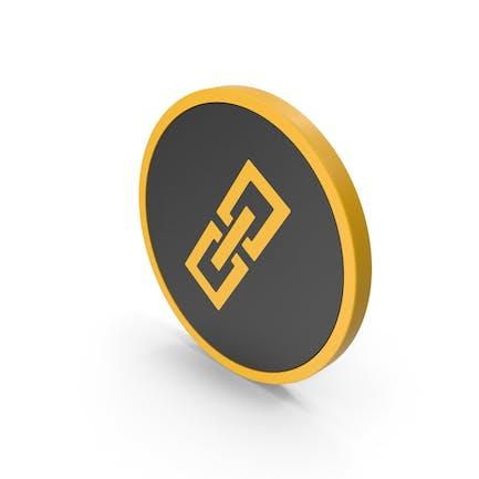 Icon Gliederkette gelb