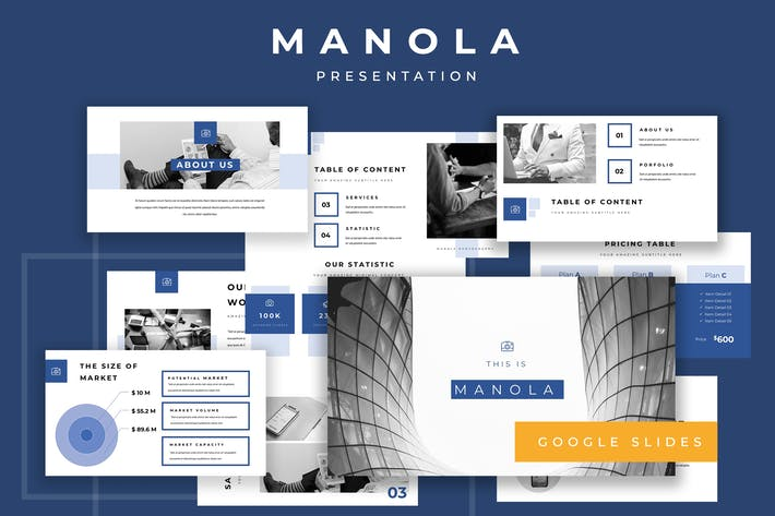 Thumbnail for Manola Pitch Deck Google Slides Présentation