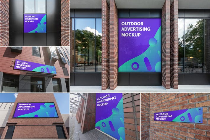 Cover Image For Outdoor Advertising Mockups Vol. 4
