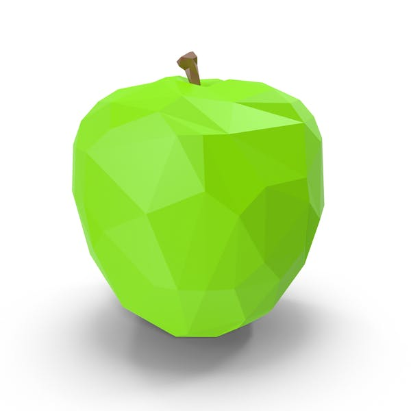 Low Poly Green Apple