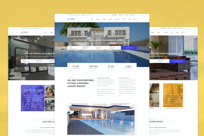 Thumbnail for Oceanic - Hotel Booking PSD template