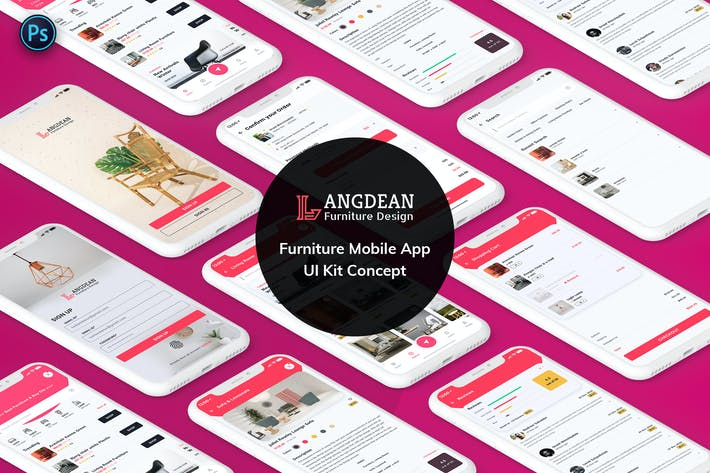 Thumbnail for Furniture Mobile App UI Kit Light Version