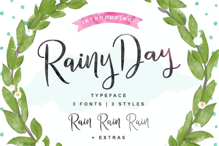 Thumbnail for Rainy Day Typeface