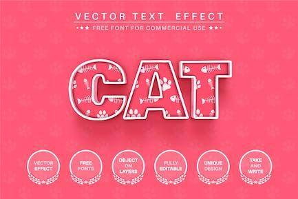 Footprint cat - редактируемый текстовый эффект, стиль шрифта