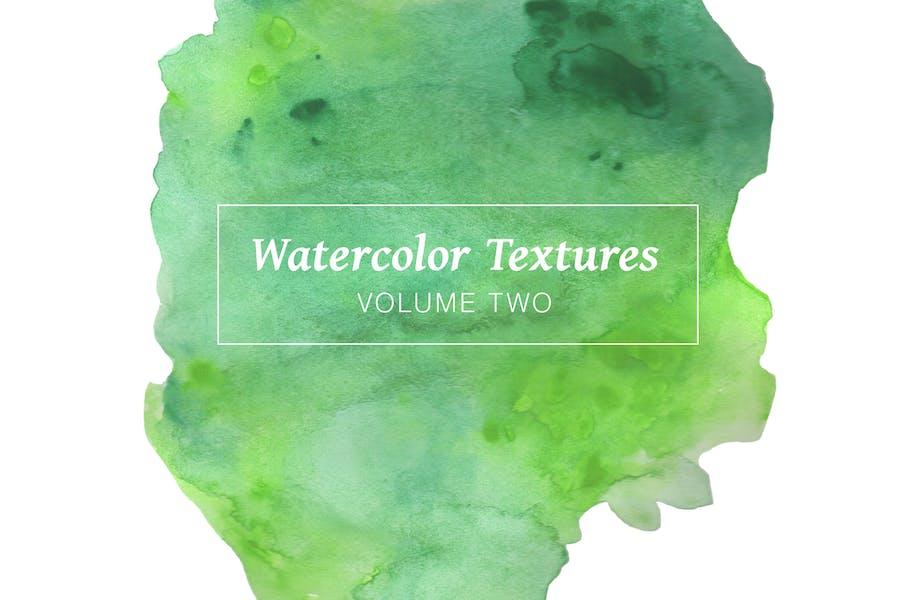 Green Watercolor Textures - Volume 2