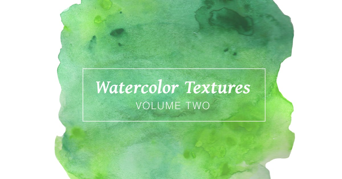 Download Green Watercolor Textures - Volume 2 by casscappello