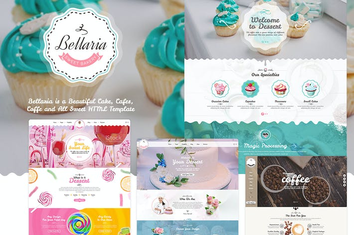 Thumbnail for Bellaria - A Delicious Cakes and Bakery Template