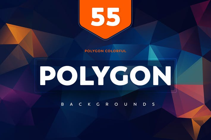 Thumbnail for +55 Polygon Backgrounds colorful style