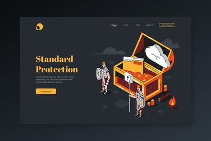 Standard Protection - Isometric Landing Page