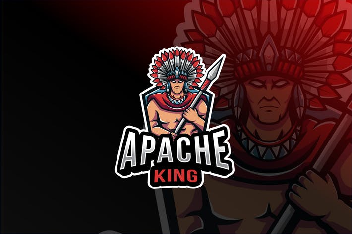 Thumbnail for Apache King Esport Logo Template