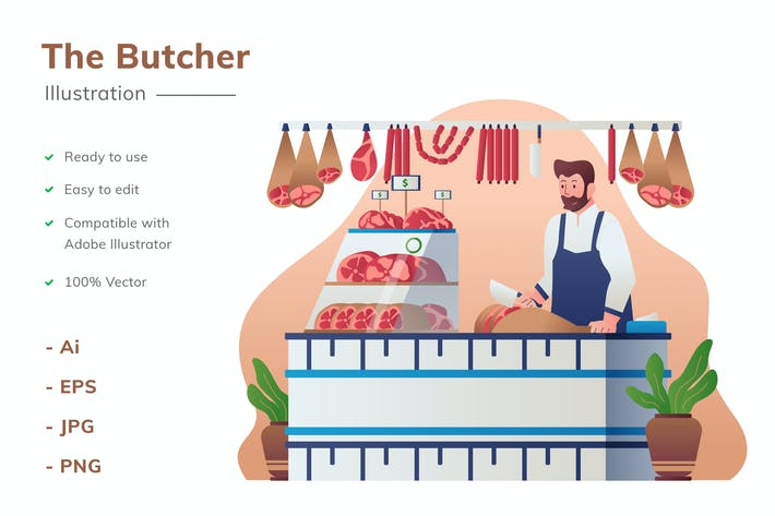 Butcher Illustration