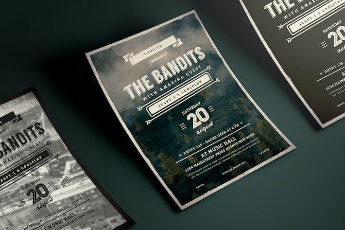 Thumbnail for Affiche de musique typographie vintage/dépliant