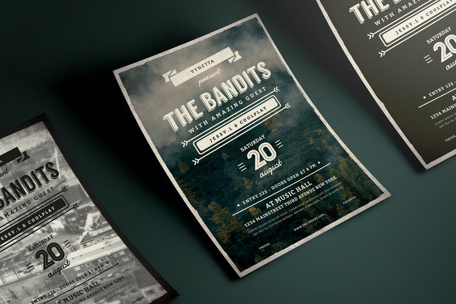 Vintage Typography Music Poster / Flyer
